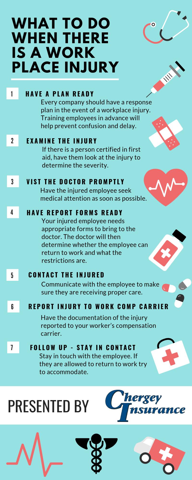 Workplace Injury Infographic  Thousand Oaks  Chergey Insurance